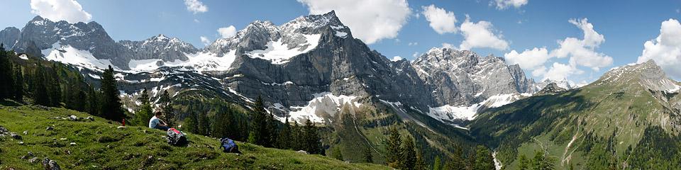 Panoramafoto: Karwendelmassiv - Alpen