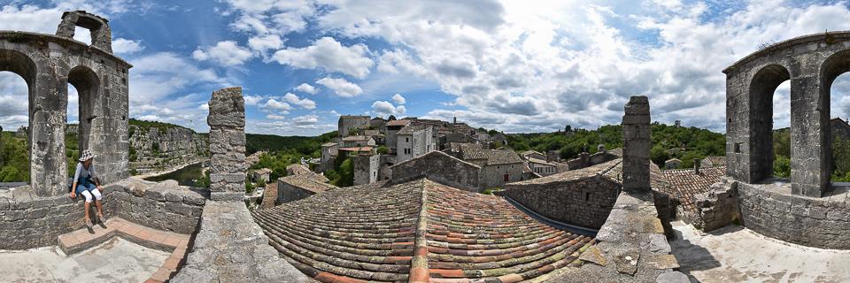 Panoramafoto: Balazuc - Ardèche