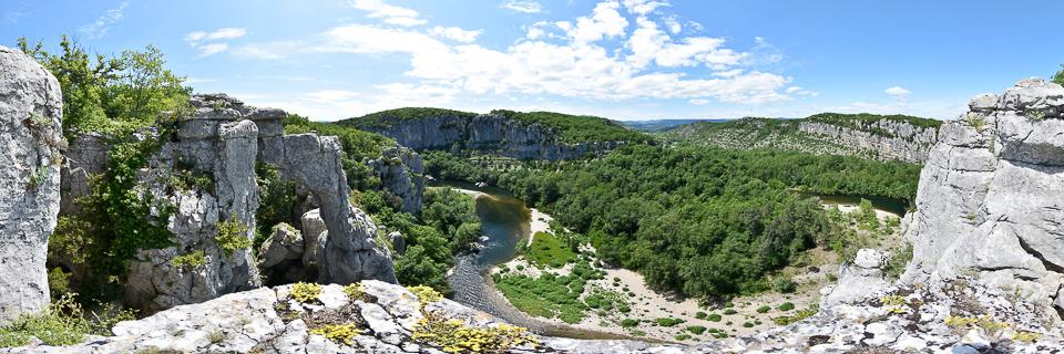Panoramafoto: Gorges du Chassezac - Cevennen