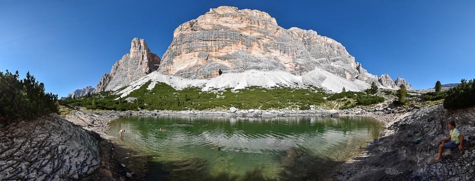 Panoramafoto: Lago Lagazuoi - Dolomiten