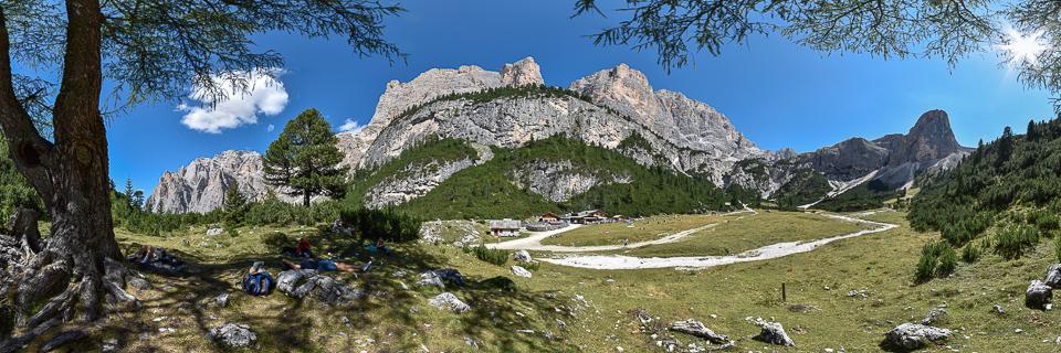 Panoramafoto: Scotoni Hütte - Dolomiten