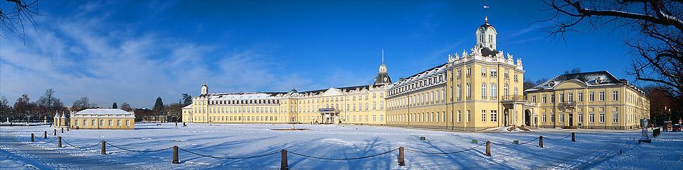 Panoramafoto: Schloss - Karlsruhe