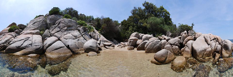 Panoramafoto: Caldarello Plage - Korsika