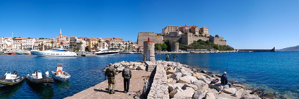 Panoramafoto: Calvi - Korsika