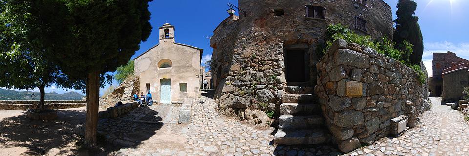 Panoramafoto: Sant Antonino - Korsika