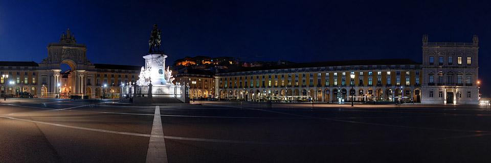 Panoramafoto: Praça do Comércio - Lissabon