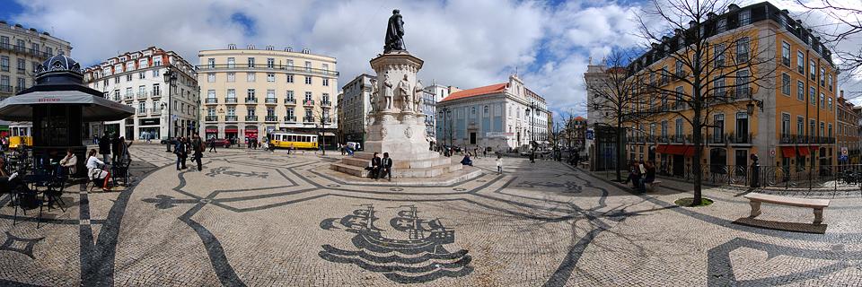 Panoramafoto: Praça Luís de Camões - Lissabon