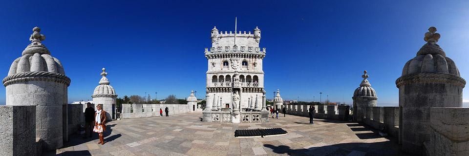 Panoramafoto: Torre de Belém - Lissabon