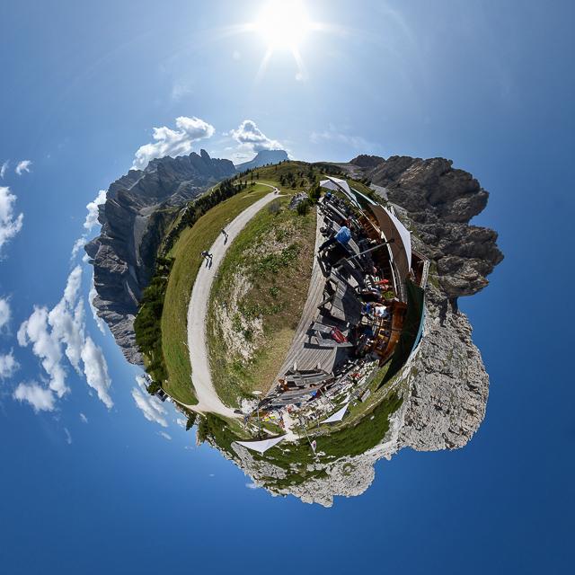 Panoramafoto: Dolomiten - Little Planet