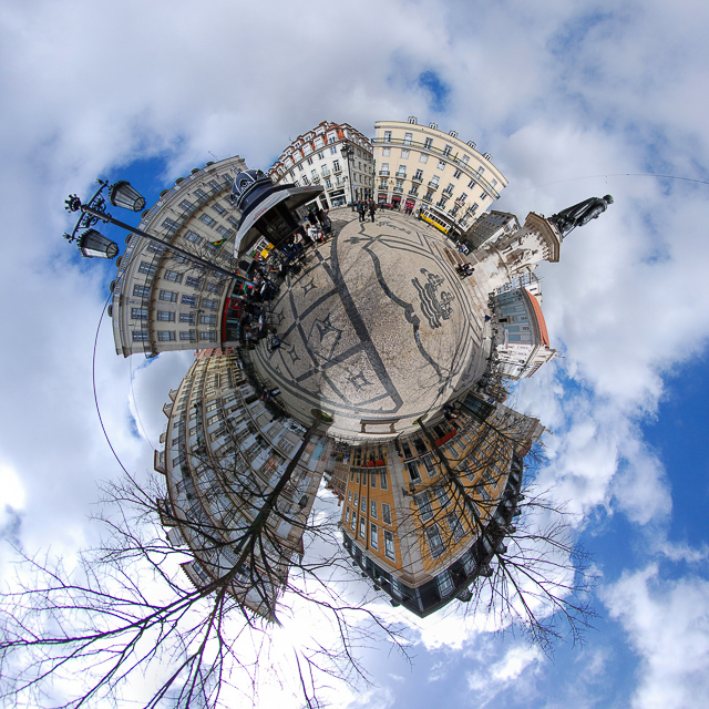 Panoramafoto: Lissabon - Little Planet