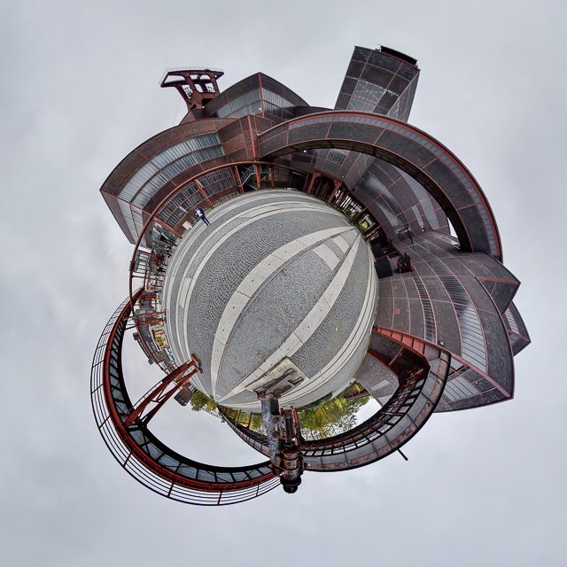 Panoramafoto: Zeche Zollverein - Little Planet
