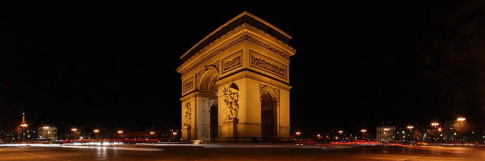 Panoramafoto: Arc de Triomphe - Paris