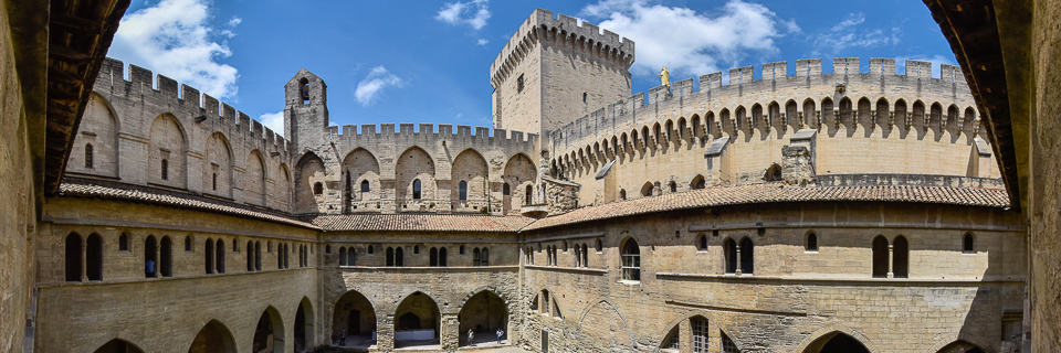 Panoramafoto: Papstpalast - Avignon