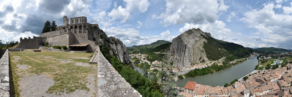 Panoramafoto: Sisteron - Haut Provence