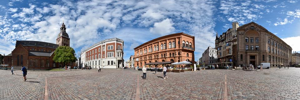 Panoramafoto: Domplatz - Riga