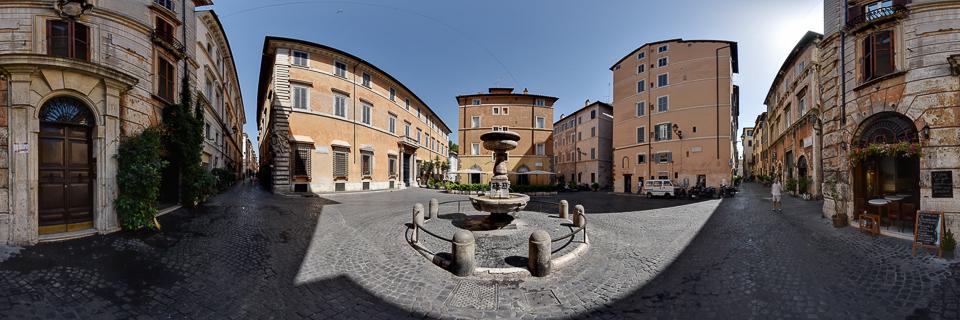 Panoramafoto: Piazza S. Simeone - Rom