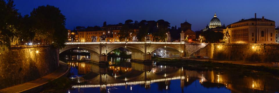 Panoramafoto: Ponte Vittorio Emanuele - Rom