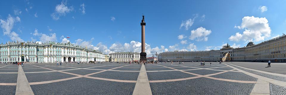 Panoramafoto: Schlossplatz - St. Petersburg