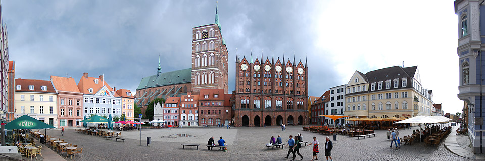 Panoramafoto: Alter Markt - Stralsund